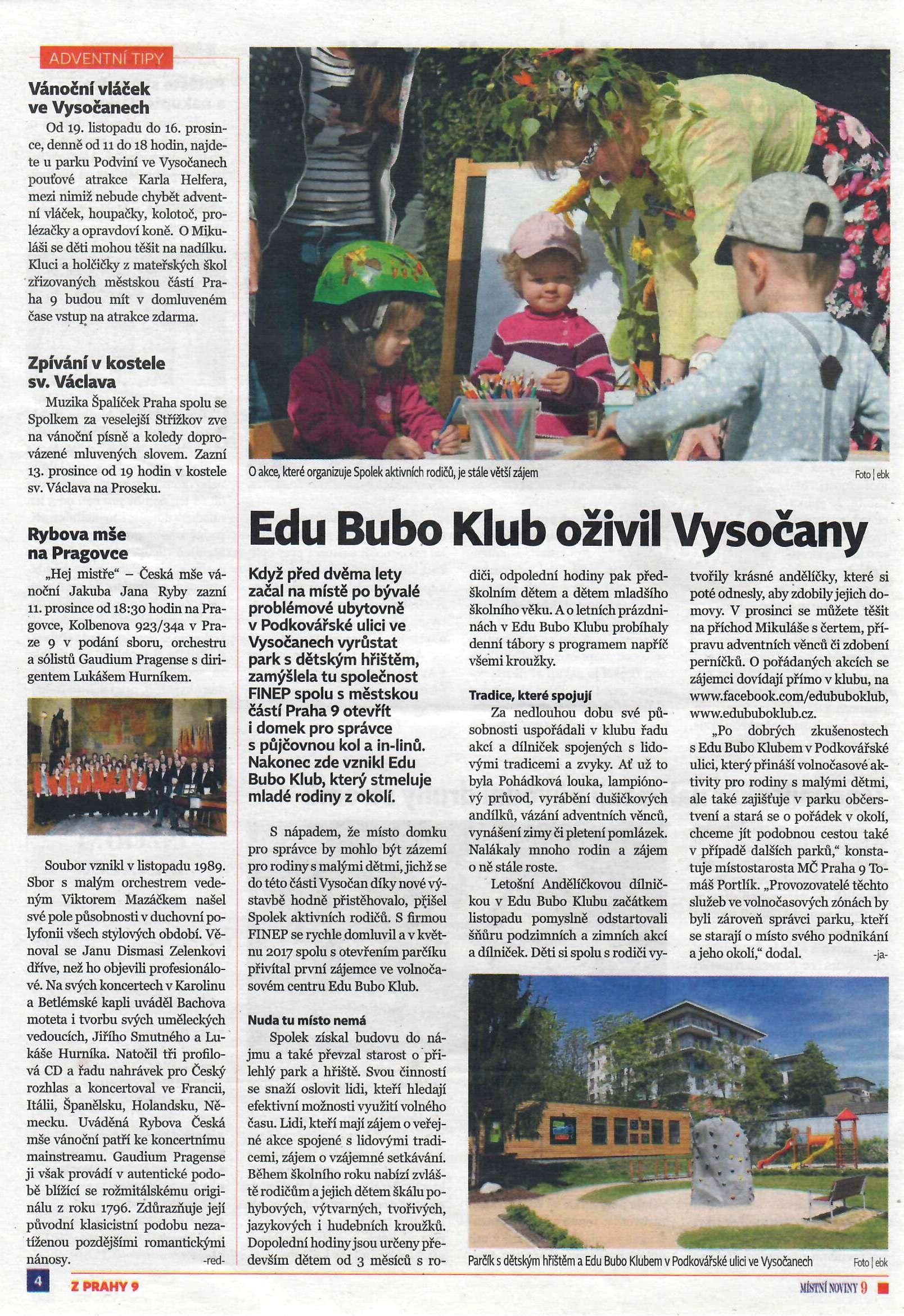 Edu Bubo Klub Vysočany