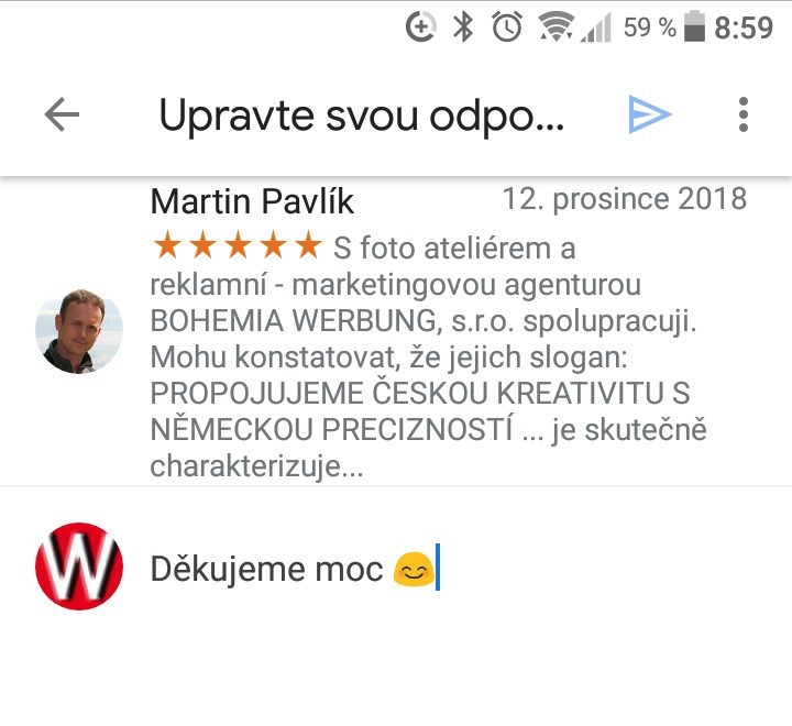 Bohemia werbung recenze
