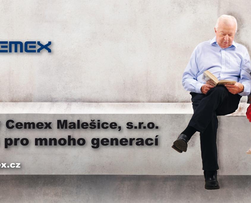 reklamní fotografie billboard kampaň Cemex